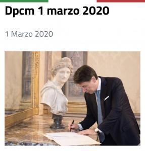 Decreto legge 1 marzo 2020