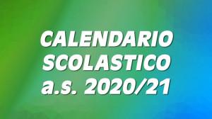 Calendario scolastico 2020-2021